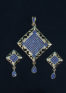 Sapphire Blue stone fashion jewelry