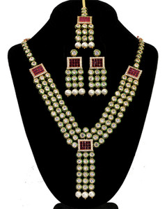 22K Gold Plated Handmade Kundan Bollywood Bridal Jewelry