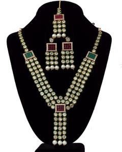 Gold Plated Handmade Kundan Bollywood Bridal Jewelry