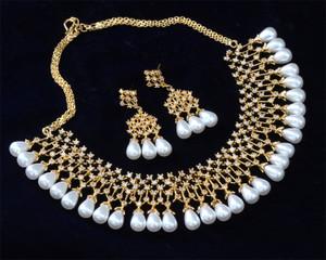 American Diamond jewelry with pearl