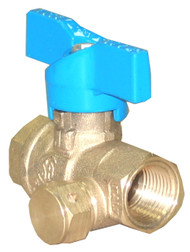 "PH-148  3/8"" Ball Valve/Inlet Tap Gas Stop"