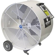 "VKM36-O 36"" White  drum fan with OSHA guards VERSA-KOOL mobile drum fans have a ""bulldog-tough"" design for maximum impact and rust resistance."