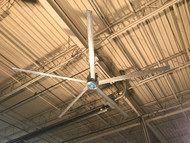 Skyblade SP-0618  HVLS Shop Fan 6 Ft (1.8 m)   120VAC 50/60hz. Includes: Standard Mount with hardware and 100' of control wire.