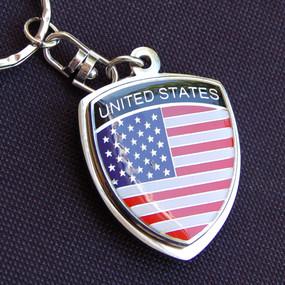 USA America Crest Key Chain