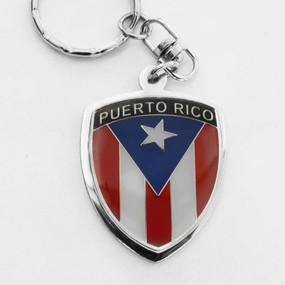 Puerto Rico Crest Key Chain
