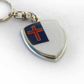 Christian Flag Crest Key Chain