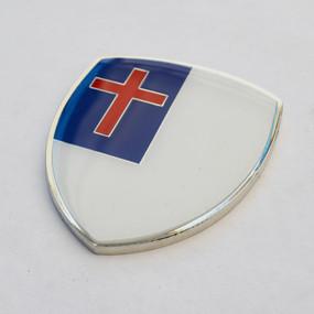 """Christian Cross Crest Emblem 2.5"""""""