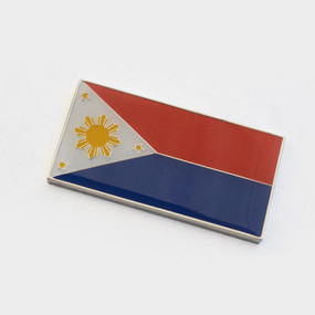 "Philippines Badge Emblem 2"" x 1"""