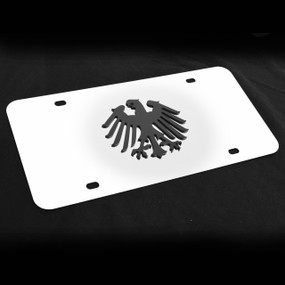 Germany Decor Plate Black, Brushed, or Bright Stainless