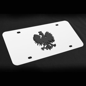 Poland Decor Plate Black, Brushed, or Bright Stainless