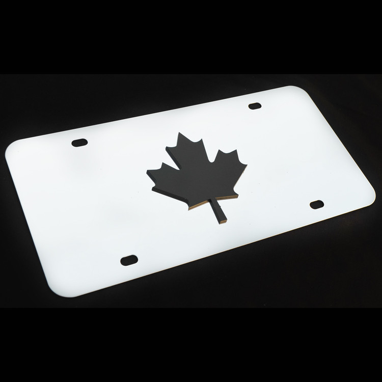 Canada Decor Plate Black, Brushed, or Bright Stainless