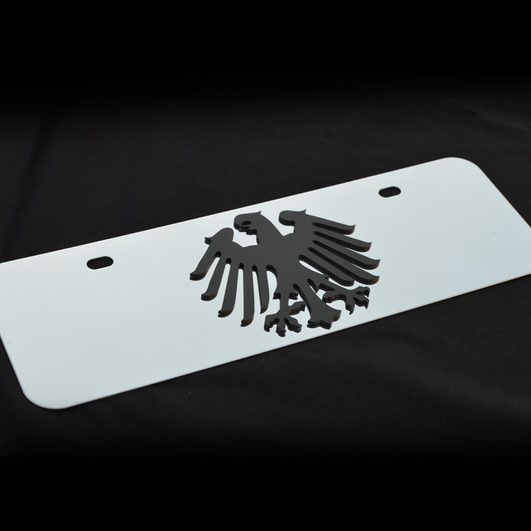 Germany v2 Small Decor Plate Black, Brushed, or Bright Stainless