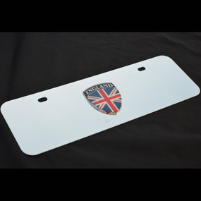 UK Great Britain England Small Decor Plate Black, Brushed, or Bright Stainless
