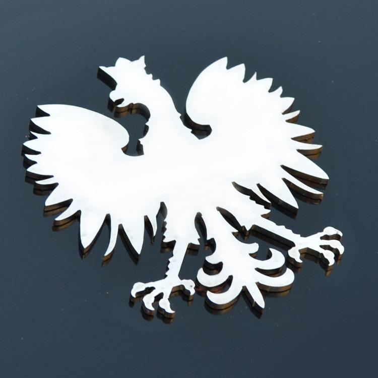 Poland Polish Stainless Emblem Badge Crest Insignia Decal