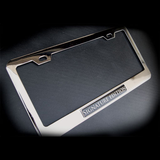Signature Edition Stainless Steel License Plate Frame With