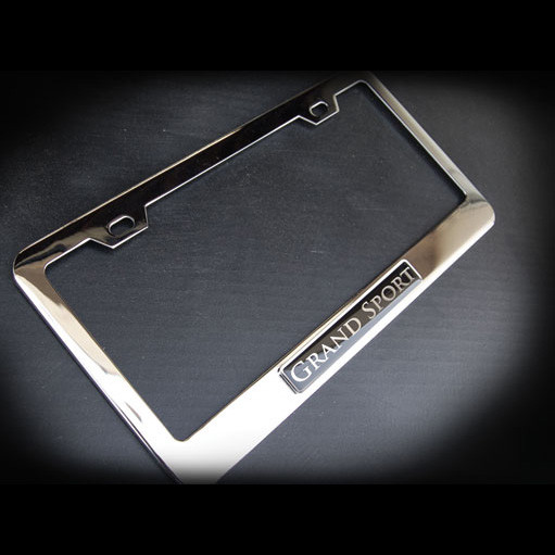 Grand Sport Stainless Steel License Plate Frame with Screws and Screw Caps