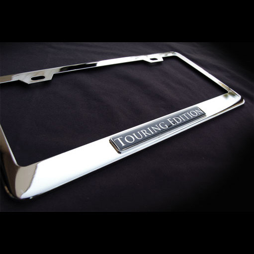 Touring Edition Stainless Steel License Plate Frame with Screws and Screw Caps