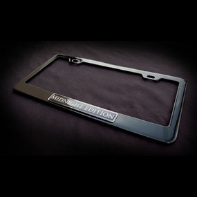 Midnight Edition Black Stainless Steel License Plate Frame with Screws and Screw Caps