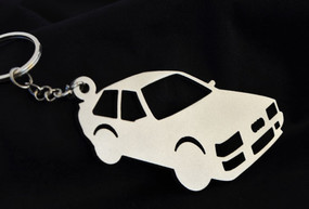 Custom Stainless Steel Keychain for Audi Quattro Enthusiasts