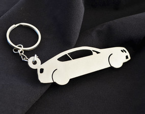 Custom Stainless Steel Keychain for Bentley GT Enthusiasts