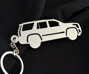 Custom Stainless Steel Keychain for Cadillac Escalade Enthusiasts