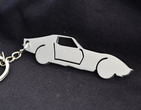 Custom Stainless Steel Keychain for Classic Chevy Corvette Enthusiasts