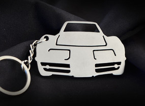 Custom Stainless Steel Keychain for Classic Chevy Corvette Enthusiasts v2