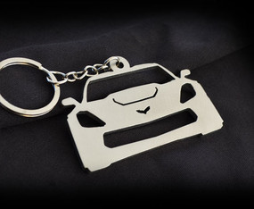 Custom Stainless Steel Keychain for Chevy Corvette Z06 Enthusiasts