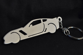 Custom Stainless Steel Keychain for Chevy Corvette Z06 Enthusiasts (side style)