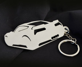 Custom Stainless Steel Keychain for Chevy Corvette Z06 Enthusiasts (back view)