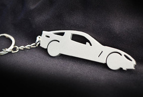 Custom Stainless Steel Keychain for Chevy Corvette Side Enthusiasts