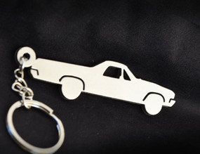 Custom Stainless Steel Keychain for Chevy Ek Camino Enthusiasts