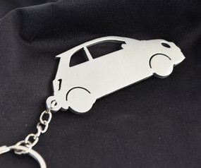 Custom Stainless Steel Keychain for Fiat 500 Enthusiasts