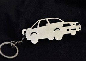 Custom Stainless Steel Keychain for Ford Mustang Enthusiasts