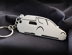 Custom Stainless Steel Keychain for Honda Civic Enthusiasts