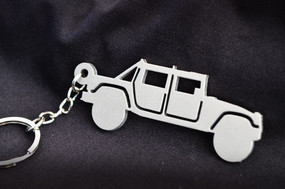 Custom Stainless Steel Keychain for Hummer H1 Enthusiasts