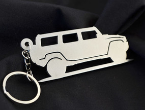 Custom Stainless Steel Keychain for Hummer H2 Enthusiasts