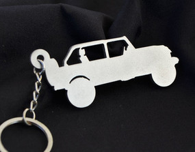Custom Stainless Steel Keychain for Jeep Wrangler Rubicon Enthusiasts