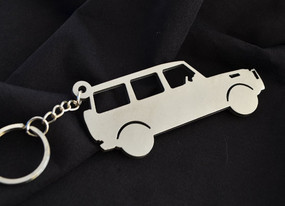 Custom Stainless Steel Keychain for MBZ G-Class Enthusiasts