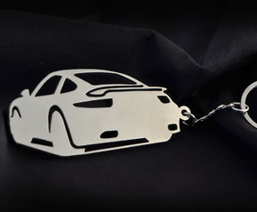 Custom Stainless Steel Keychain for Porsche 911 Enthusiasts