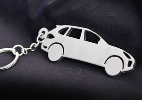 Custom Stainless Steel Keychain for Porsche Cayenne Enthusiasts
