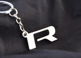 Custom Stainless Steel R Keychain