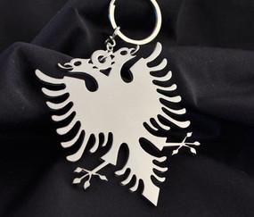 Albania Eagle Custom Stainless Steel Keychain