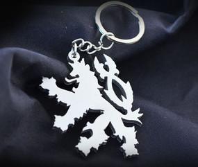 Czech Republic Lion Custom Stainless Steel Keychain