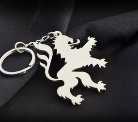 Germany Lion Custom Stainless Steel Keychain