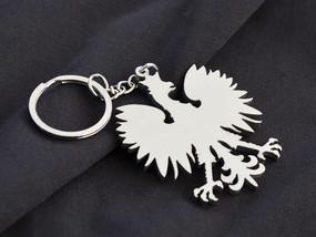 Polish Eagle Custom Stainless Steel Keychain