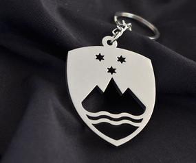 Slovenia Custom Stainless Steel Keychain
