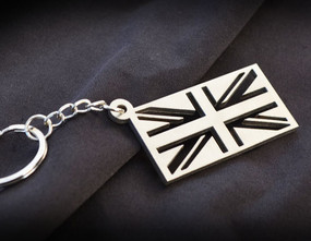 UK Union Jack Flag Custom Stainless Steel Keychain