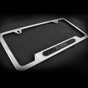 Turbo OE Style Stainless Steel License Plate Frame with Screws and Screw Caps