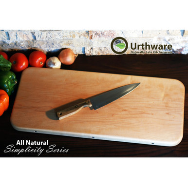 Urthware All Natural Simplicty series XL PLUS Cutting board. Canadian hard maple no glue organic